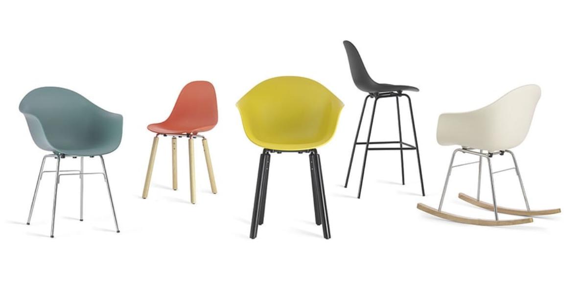 Stühle Kunststoff & Holz