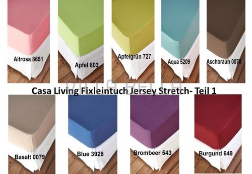 Casa Living Fixleintuch Jersey Stretch- Teil 1
