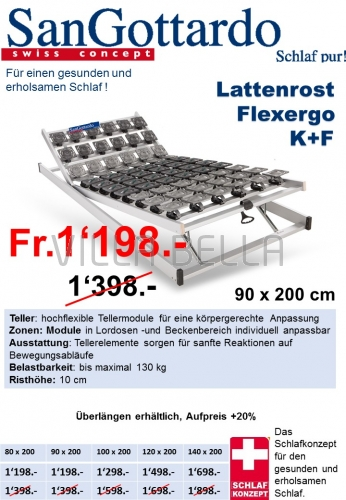 Lattenrost Flexergo K+F