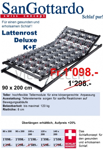 Lattenrost Deluxe K+F