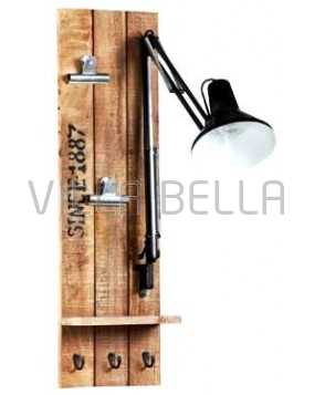 Wandschild mit Lampe Belgien