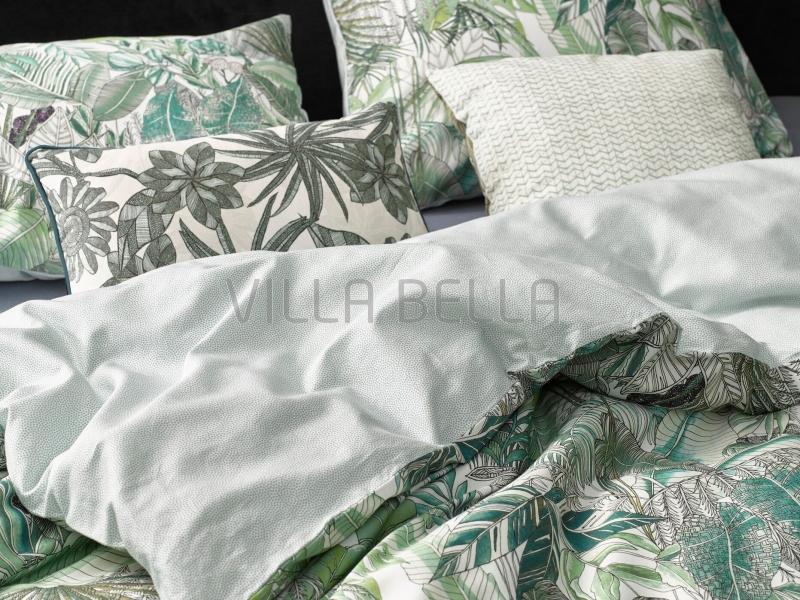 Essenza Loba Green — Satinbettwäsche