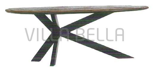 Gomer ovaler Holztisch Modell I