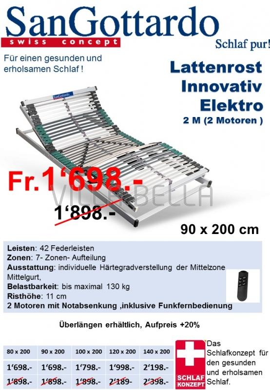 Lattenrost Innovativ Elektro 2M