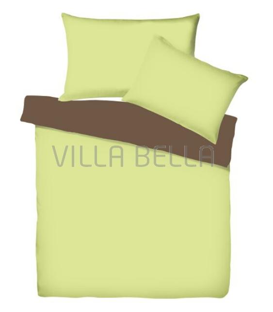 Villa Doubleface Limone/Tabak - Satinbettwäsche SETS