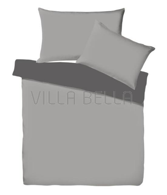 Villa Doubleface Schiefer/Anthrazit - Satinbettwäsche SETS