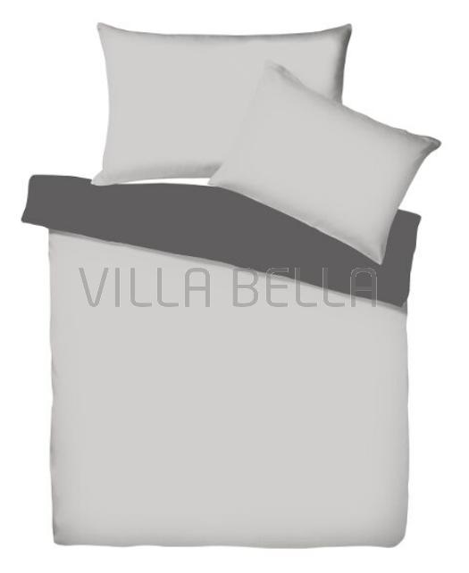 Villa Doubleface Silber/Anthrazit - Satinbettwäsche SETS