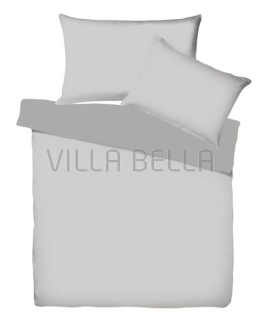 Villa Doubleface Silber/Schiefer - Satinbettwäsche SETS