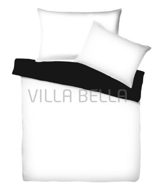 Villa Doubleface Weiss/Schwarz - Satinbettwäsche SETS