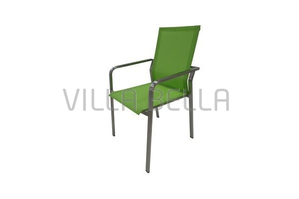 Gartenstuhl Velency mit Armlehne Grün