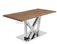 UVE Tisch Inox Alt Eiche