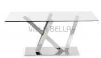 UVE Tisch Inox Glasplatte Durchsichtig