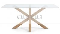 ARYA Tisch Naturalle Glaspatte Klar