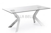Virginia Tisch Verchromt Glas Klar