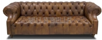 Chesterfield Sofa Winston Churchill 3-er mit Buttons