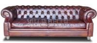 SOFA   3-er  Chesterfild Luxury Winston Churchill  mit Kissen