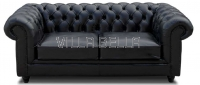 Chesterfield Sofa Color 2-er mit Kissen