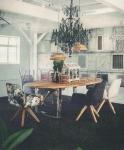 Crown Ovaler Holztisch