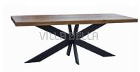 Spider Tisch aus Wildeiche Massiv