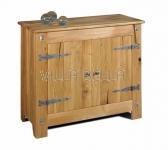 Massivholz Sideboard Castello (2-türig)