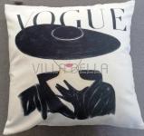 Vogue Hut Zierkissen 40 x 40 cm