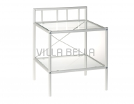Nachtkonsole Venezia mit Glassplate