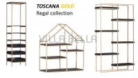 Toscana Gold Regal mit Ausziehkisten