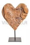 Herz auf Ständer-Tannenholz