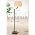 Piedro-Stehlampe mit Glastisch