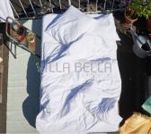 100% Bio-BW Perkal — Louise uni, weiss