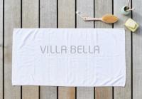 100% Bio-BW Handtuch — Tilda, weiss