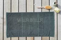 100% Bio-BW Handtuch — Tilda, dunkelgrün