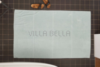 100% Bio-BW Badetuch — Tilda, mint