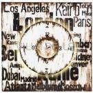 Wandschild mit Uhr Los Angeles