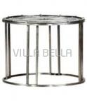 Beistelltisch grau (Tischplatte mit Uhrenmotiv)